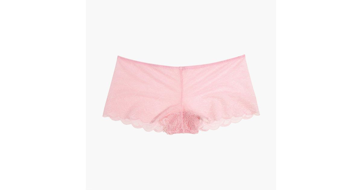 fee954ba43ea9 Madewell Lace Boyshort in Pink - Lyst