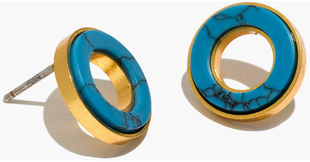 3d3c2bcf0 Madewell Desert Sunset Circle Stud Earrings in Blue - Lyst