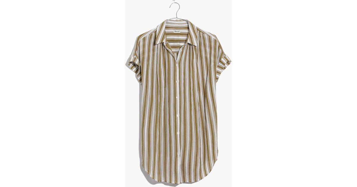 ce5c7c59e51 Madewell Central Tunic Shirt In Williams Stripe - Lyst