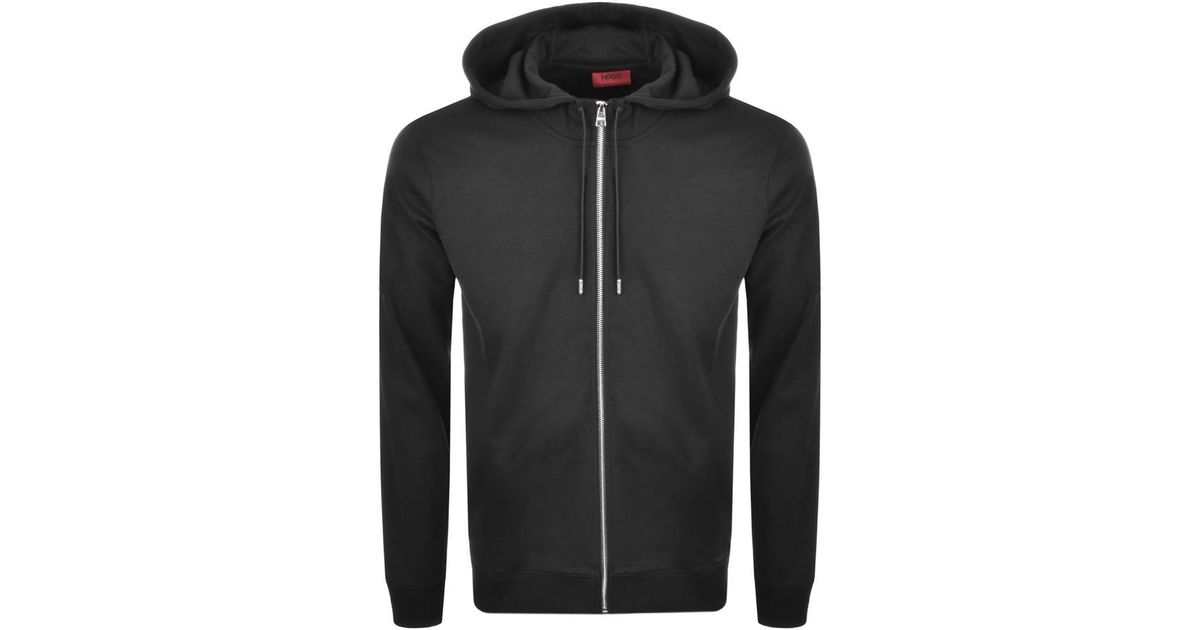 916e40c5d6 HUGO By Boss Durphy Hoodie Black in Black for Men - Lyst