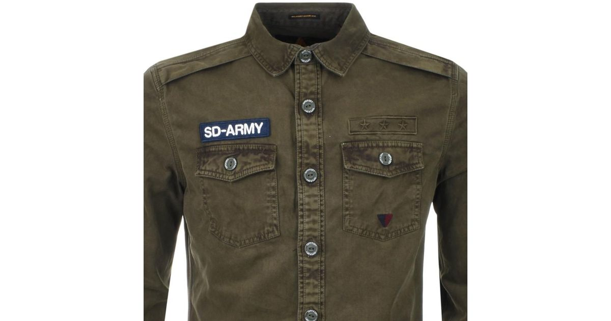 8f708538 Superdry Sd Army Corps Shirt Green in Green for Men - Lyst