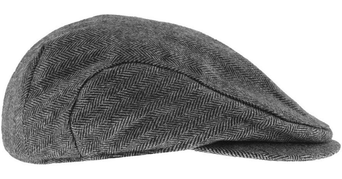 GANT Herringbone Drivers Flat Cap Grey in Gray for Men - Lyst 90acda91006