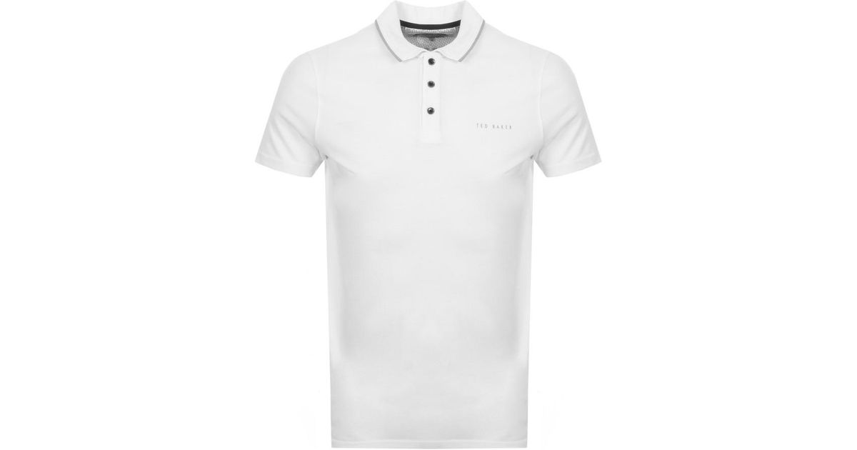 b4057617bbd4 Lyst - Ted Baker Bloko Polo T Shirt White in White for Men