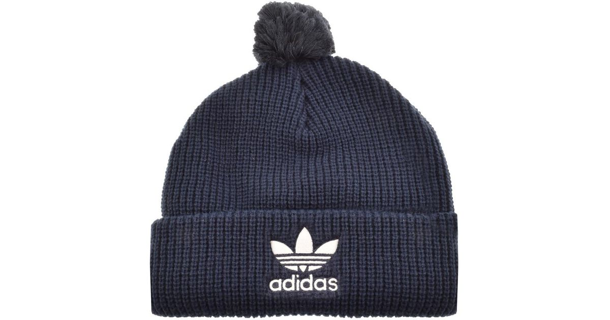 7e897ce8a51 adidas Originals Beanie Hat Navy in Blue for Men - Lyst