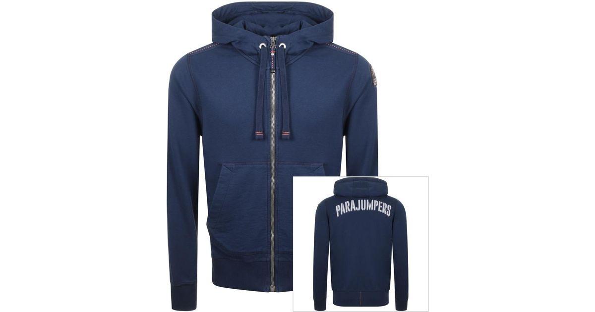 parajumpers charlie full zip hoodie black