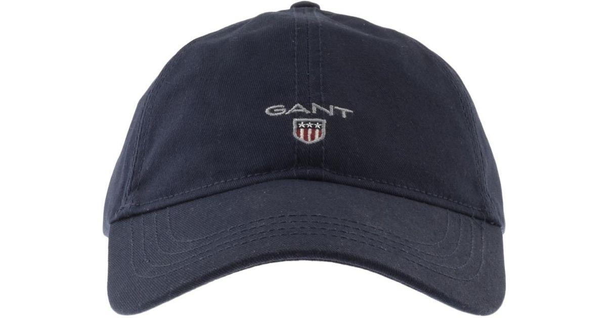 Lyst - GANT Twill Cap Navy in Blue for Men 95bd0540395
