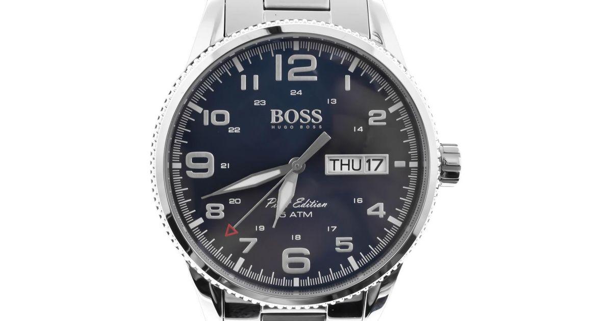 51e6da38c BOSS Hugo Boss Black 1513329 Pilot Vintage Watch Silver in Metallic for Men  - Lyst