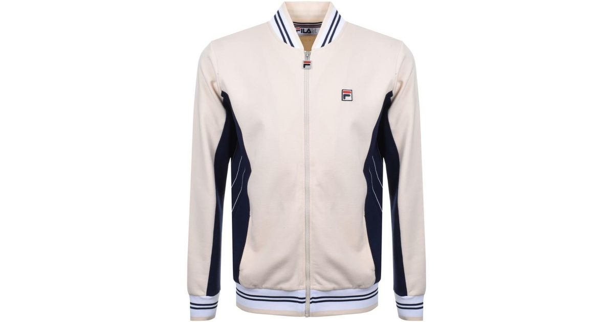 26dbd78a4d31 Lyst - Fila Vintage Settanta Zip Sweatshirt Beige in Natural for Men
