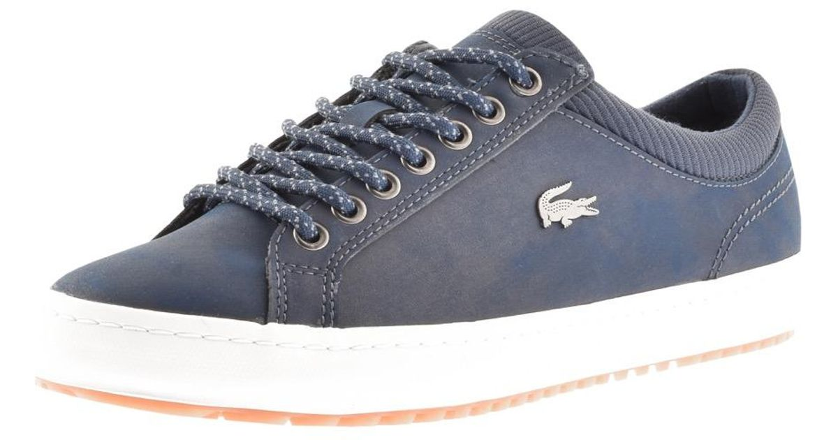 9b1f2f0a Lacoste - Blue Strightset Insulate Trainers Navy for Men - Lyst