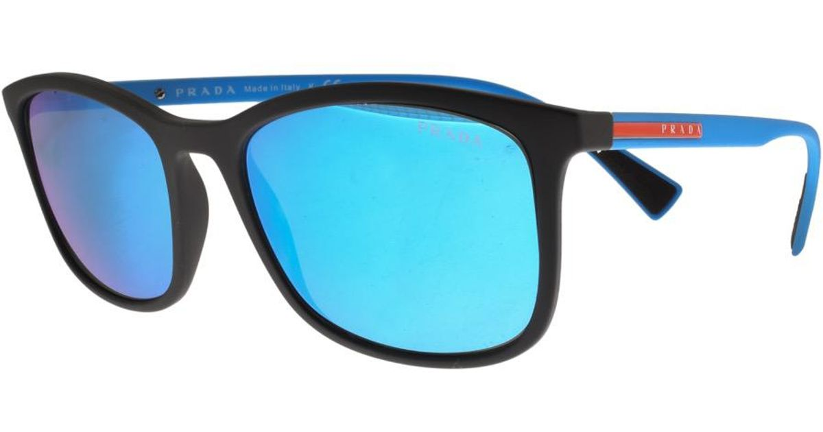 a7a25de08ea ... discount prada linea rossa sunglasses blue in blue for men lyst 7097a  e7ff6