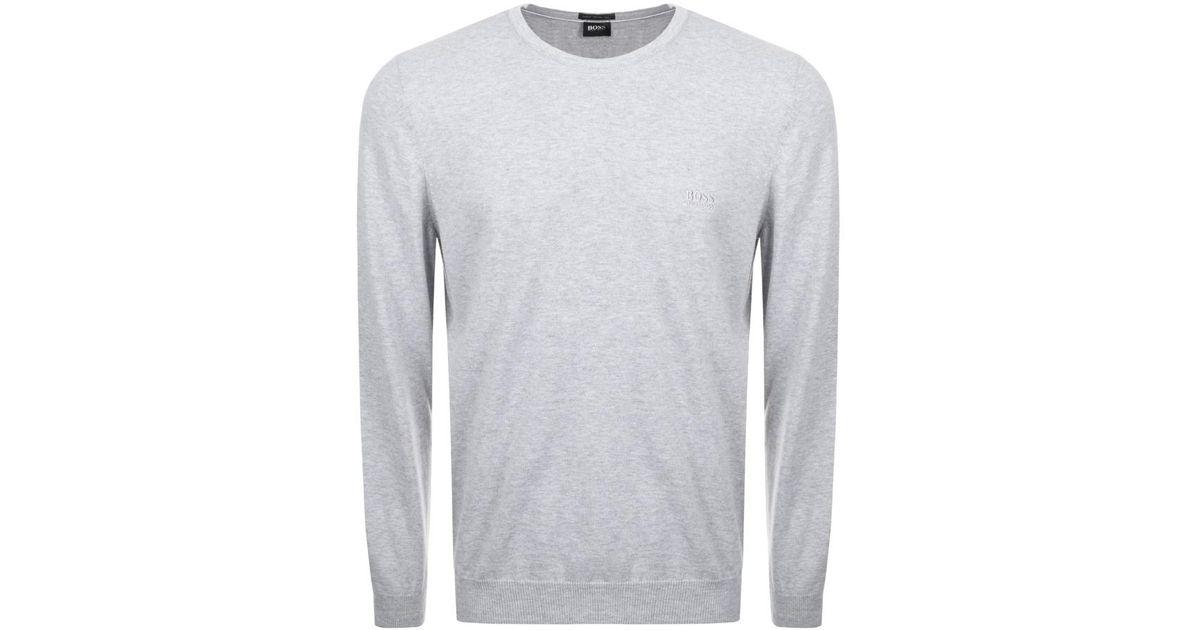 0c23a4083980 Boss Pacas L Knit Jumper Grey in Gray for Men - Lyst
