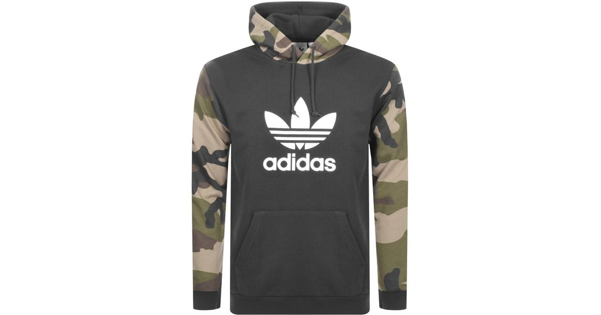 innovative design 27451 8aaa6 Adidas - Black Originals Pullover Hoodie Camo for Men - Lyst