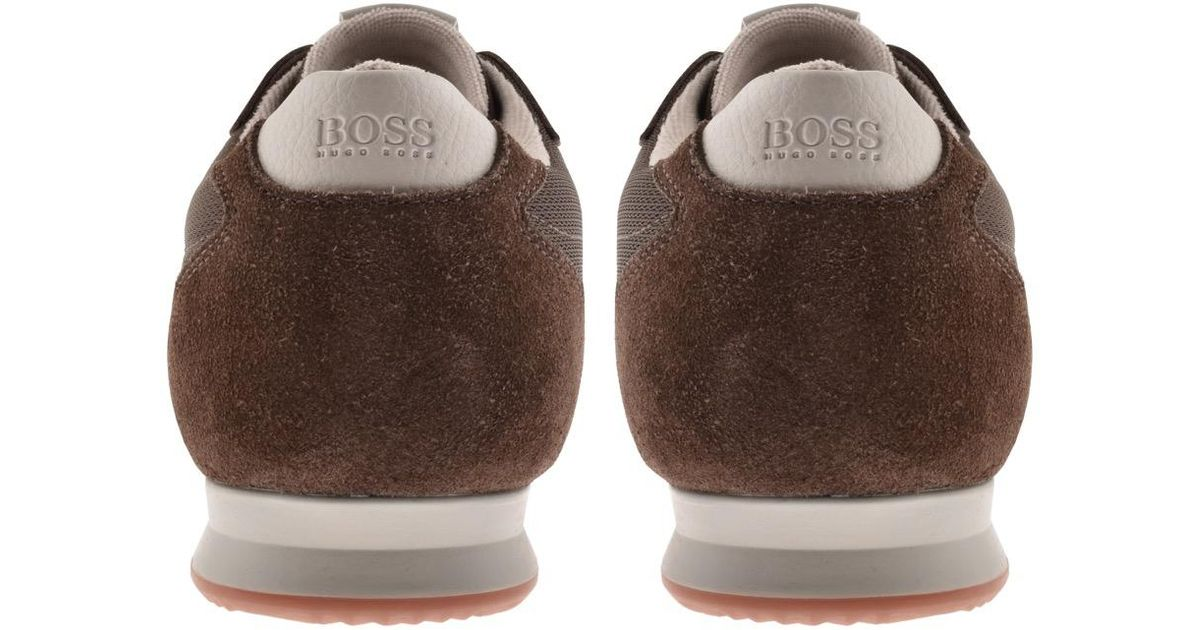 Lyst - BOSS by Hugo Boss Boss Orange Orland Lowp Trainers Brown in Brown  for Men b3617b743ac