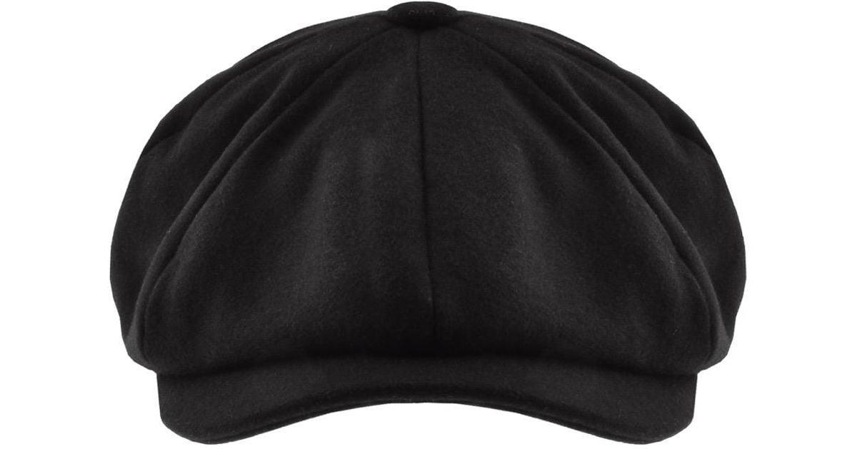a7aabcbd593 Barbour Melton Bakerboy Hat Black in Black for Men - Lyst