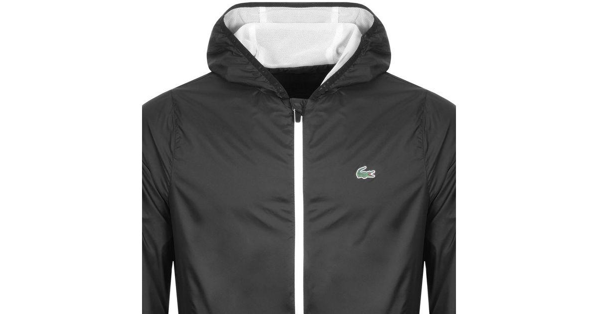 7f1e6f62f7c2 Lyst - Lacoste Sport Full Zip Hooded Jacket Black in Black for Men
