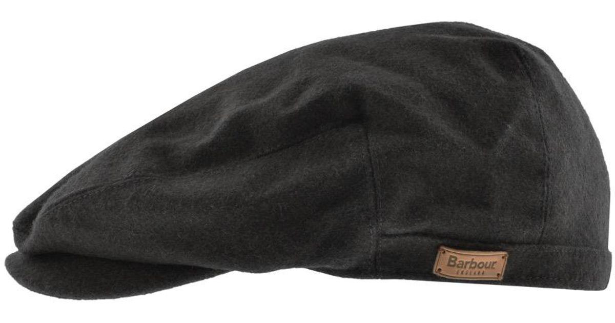 69adc8f5b0c Lyst - Barbour Redshore Flat Cap Black in Black for Men