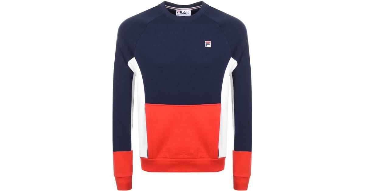 b962c49c63c72 Fila Vintage Foster Sweatshirt Navy in Blue for Men - Lyst