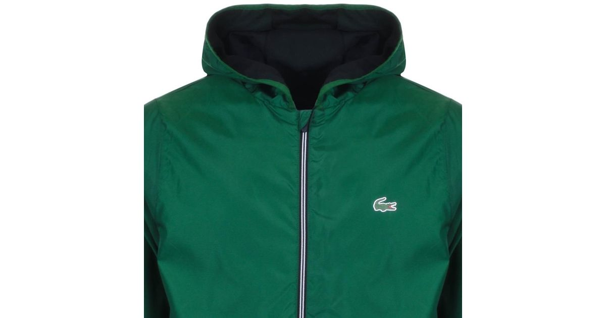 a22796013f4db1 Lyst - Lacoste Sport Full Zip Hooded Jacket Green in Green for Men