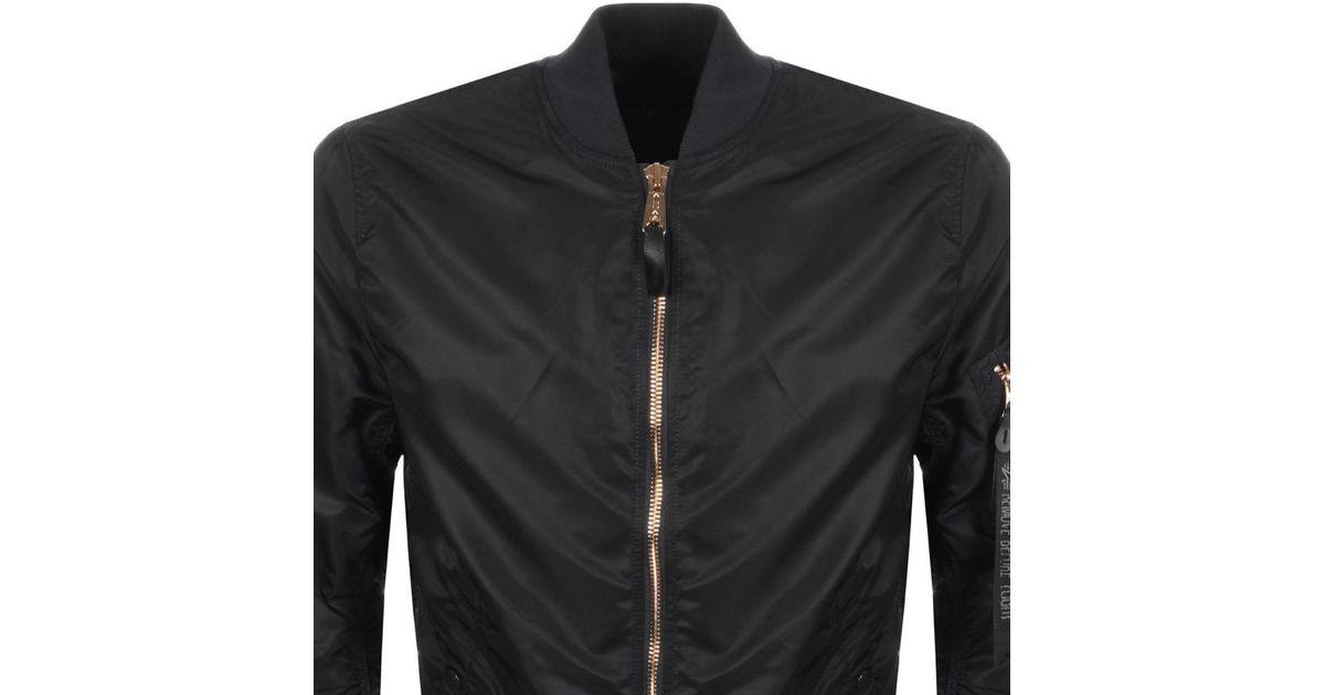2dd2609e6358f Lyst - Alpha Industries Ma 1 Vf Lw Bomber Jacket Black in Black for Men