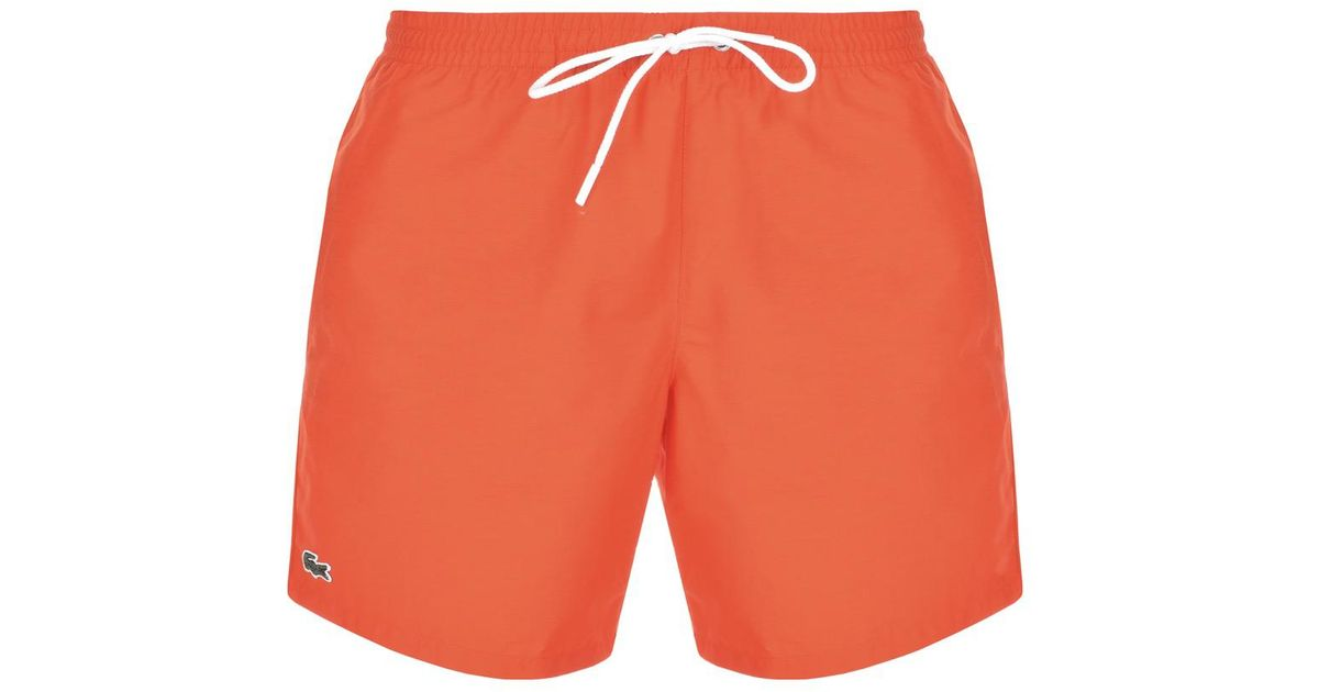 af1709d62029b Lyst - Lacoste Swim Shorts Orange in Orange for Men