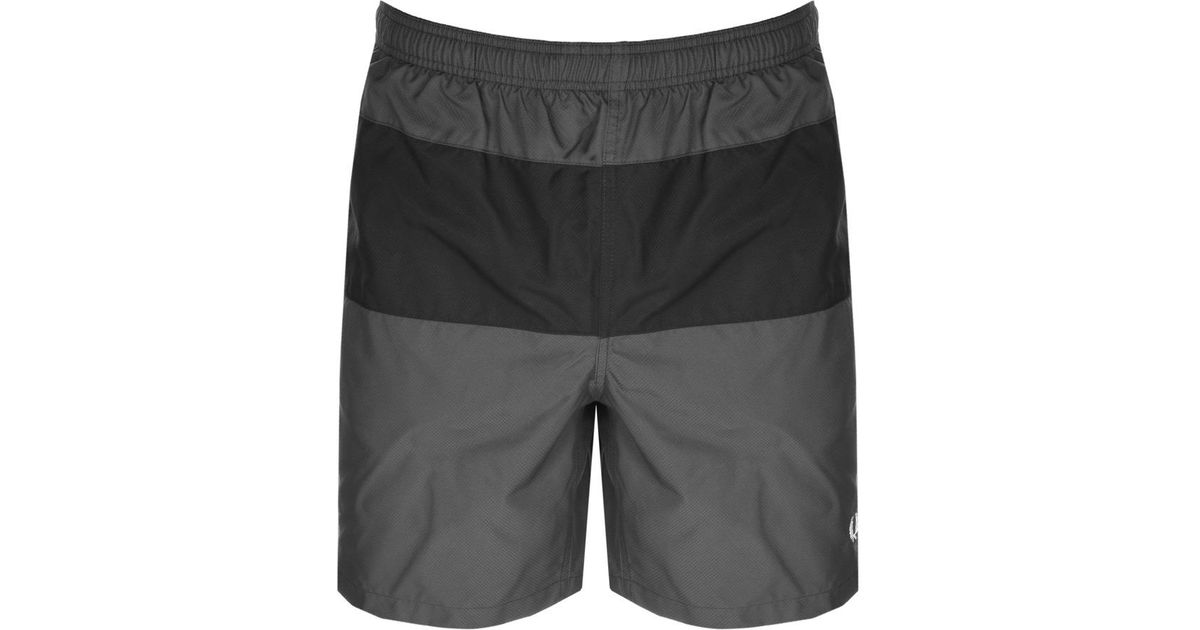 cbc6cae097 Fred Perry Panelled Swim Shorts Grey in Gray for Men - Lyst