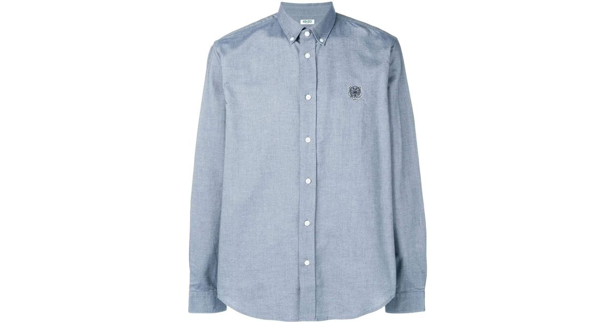 7fa59bb4 Lyst - KENZO Navy Blue Button Down Tiger Casual Shirt in Blue for Men