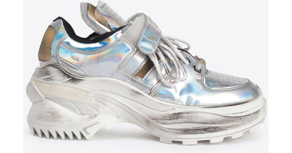 promo code e75e9 6d08a Maison Margiela Low-top  retro Fit  Sneakers in Metallic - Save 60% - Lyst