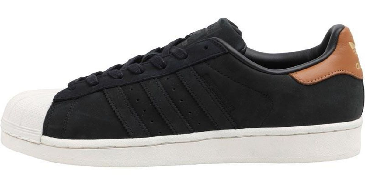 Adidas Originals Superstar Trainers Core Black Gold Metallic Off