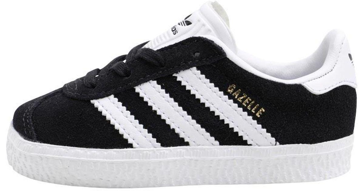 b3a44c71371 adidas Originals Infant Gazelle Trainers Core Black footwear White gold  Metallic in Black for Men - Lyst