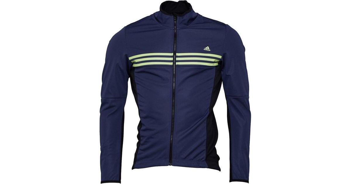 Adidas Blue Response Warmtefront Cycling Jacket Midnight Greyblackfrozen Yellow for men
