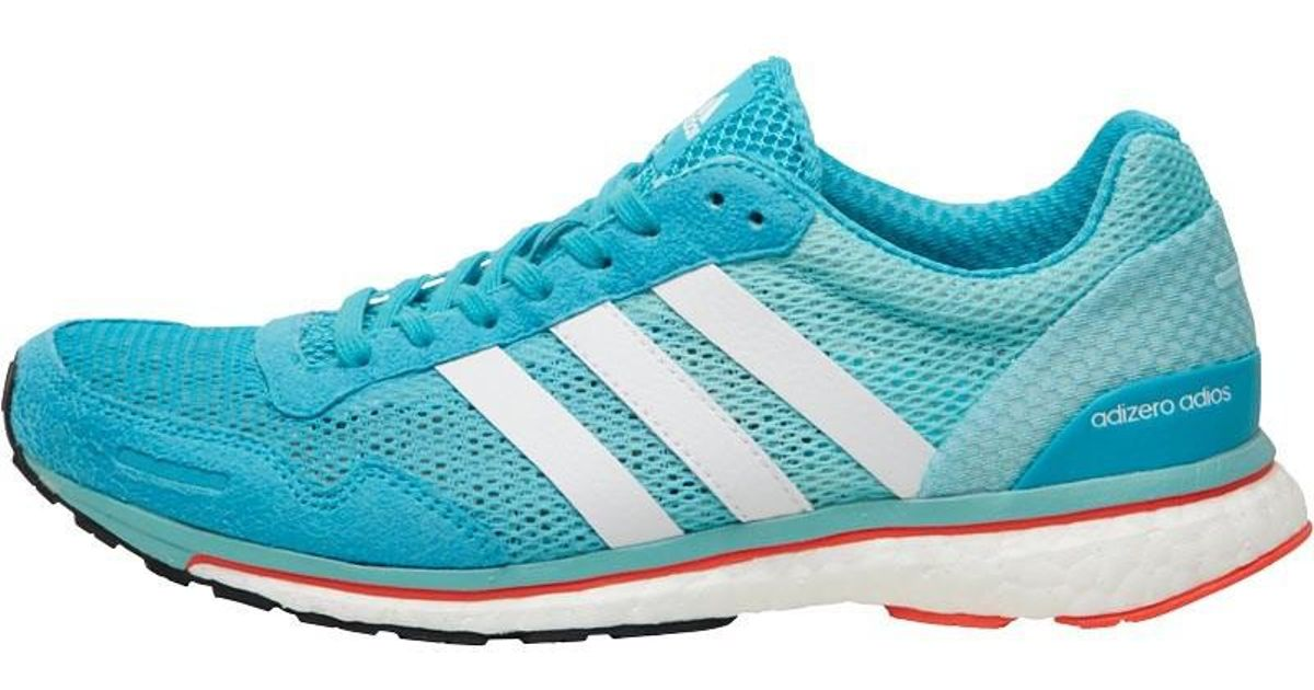 cheap for discount 1f588 15f9d adidas Adizero Adios Boost 3 Lightweight Neutral Running Shoes Energy  Blue white easy Mint in Blue - Lyst