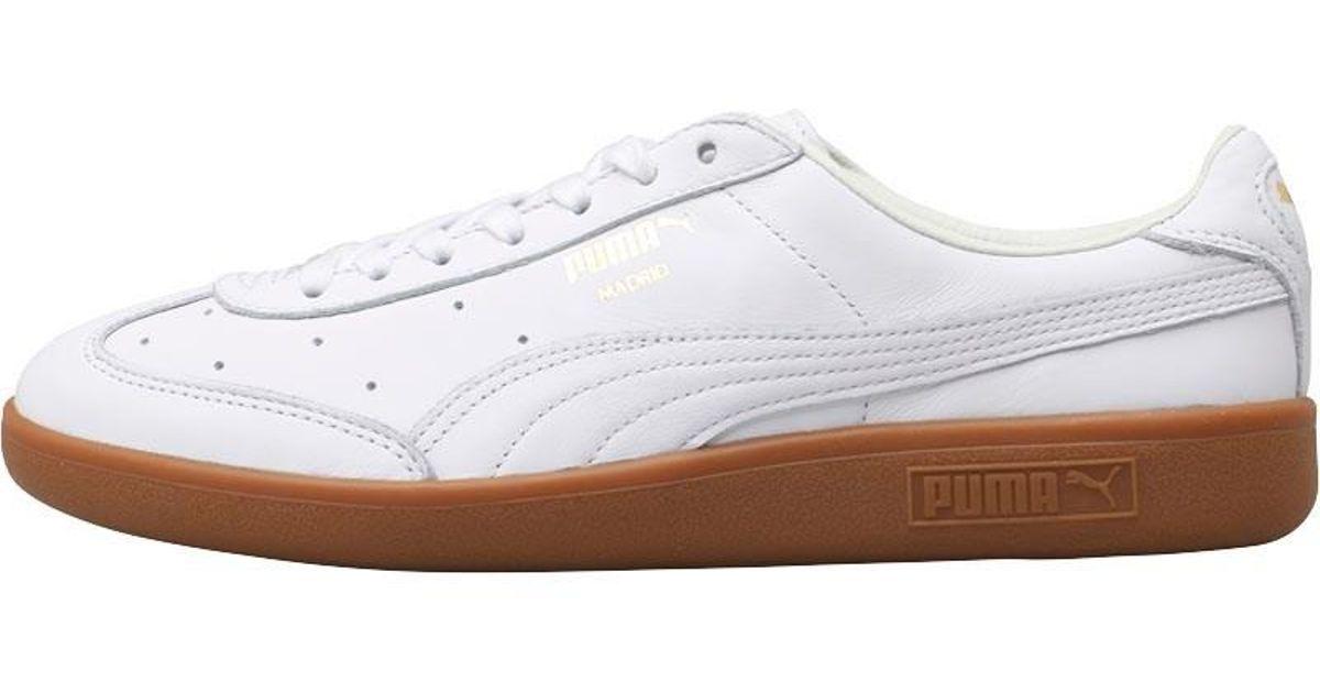 Puma Madrid Premium Trainers White gold gum in White for Men - Lyst 271a409c6
