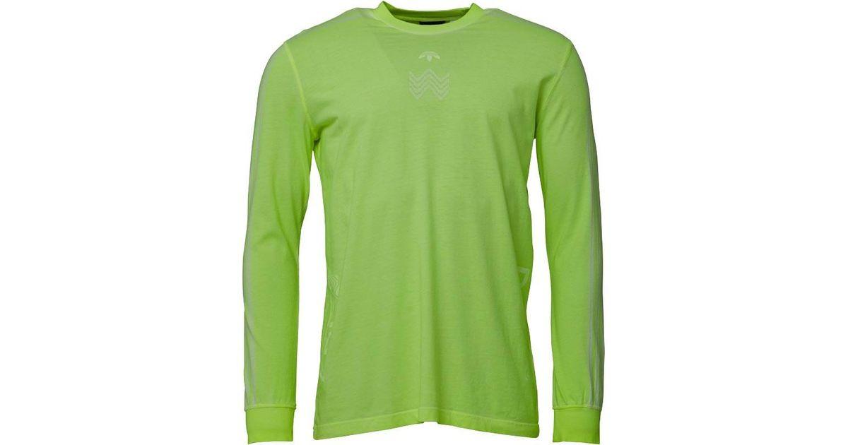 65c85a4c adidas Originals X Alexander Wang Bleach Long Sleeve Shirt Semi Solar Yellow  in Green for Men - Lyst