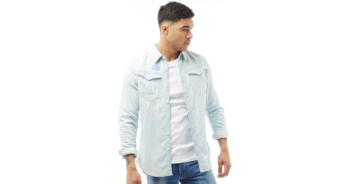 425841a80edaa7 G-Star RAW Arc 3d Shirt Light Aged Restored 75 in Blue for Men - Lyst
