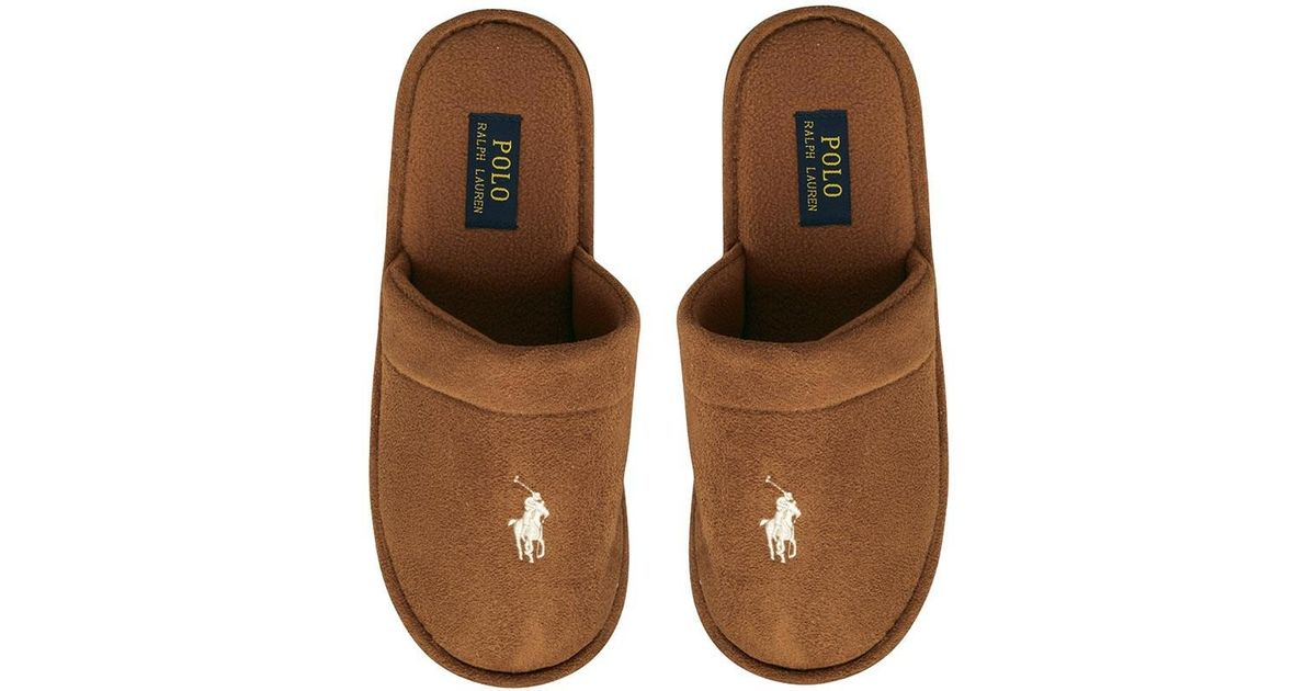 db2ed7a4b Ralph Lauren Sunday Scuff Slippers Snuff khaki in Brown for Men - Lyst