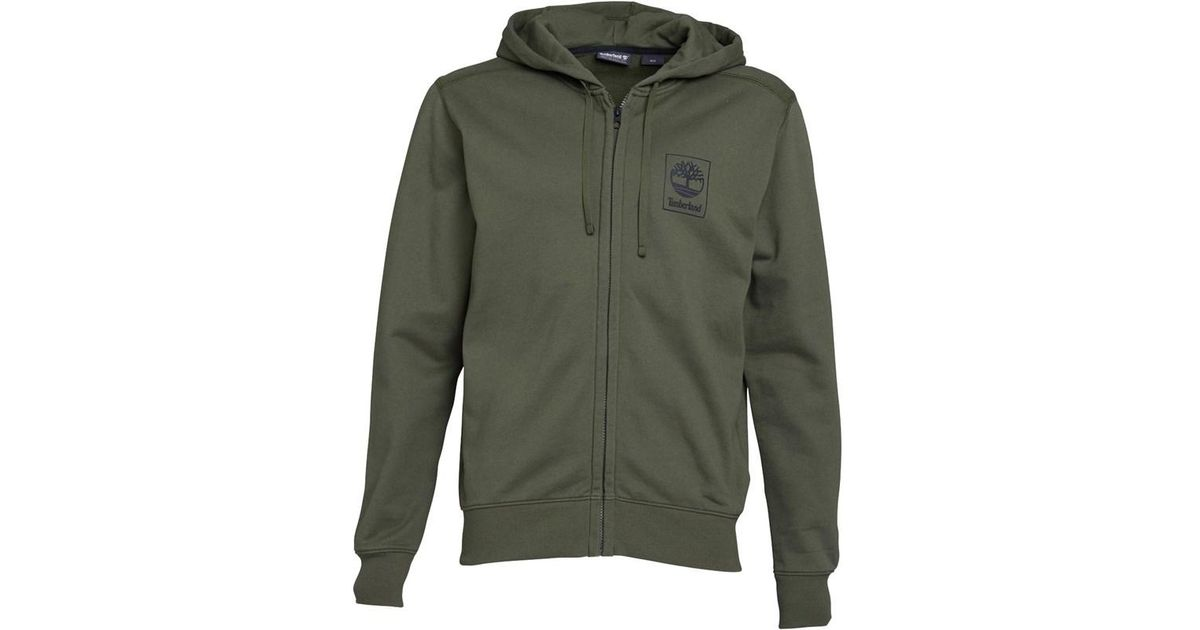 5c4e95d22 Timberland Back Logo Zip Hoodie Grape Leaf in Green for Men - Lyst