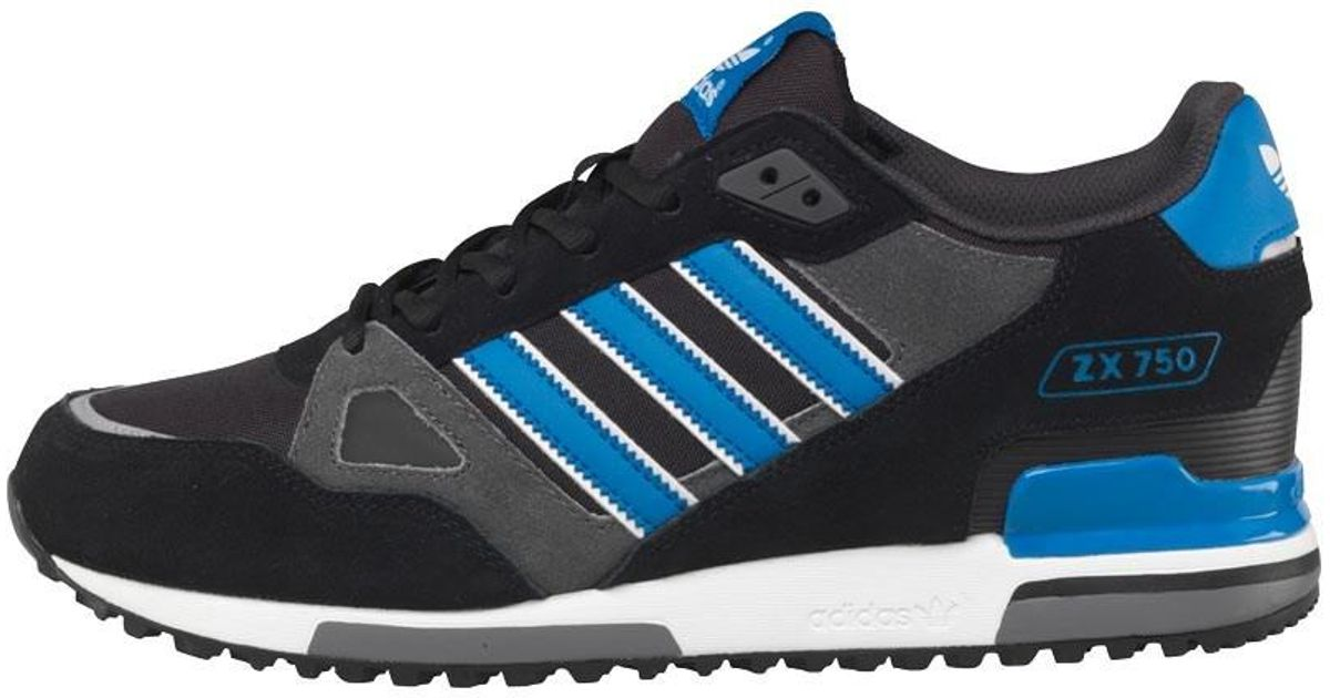 new concept ffa0d 20a7f adidas Originals Zx 750 Trainers Black bluebird white in Black for Men -  Lyst