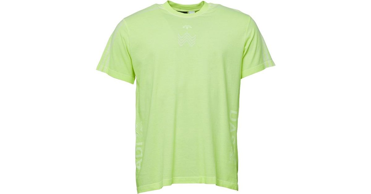 ee0f9f06 adidas Originals X Alexander Wang Bleach T-shirt Semi Solar Yellow in Green  for Men - Lyst