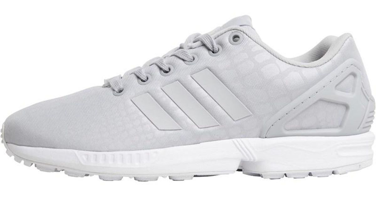 hot sale online 0b38f b5416 Adidas Originals Gray Zx Flux Trainers Grey Two/grey Two/footwear White