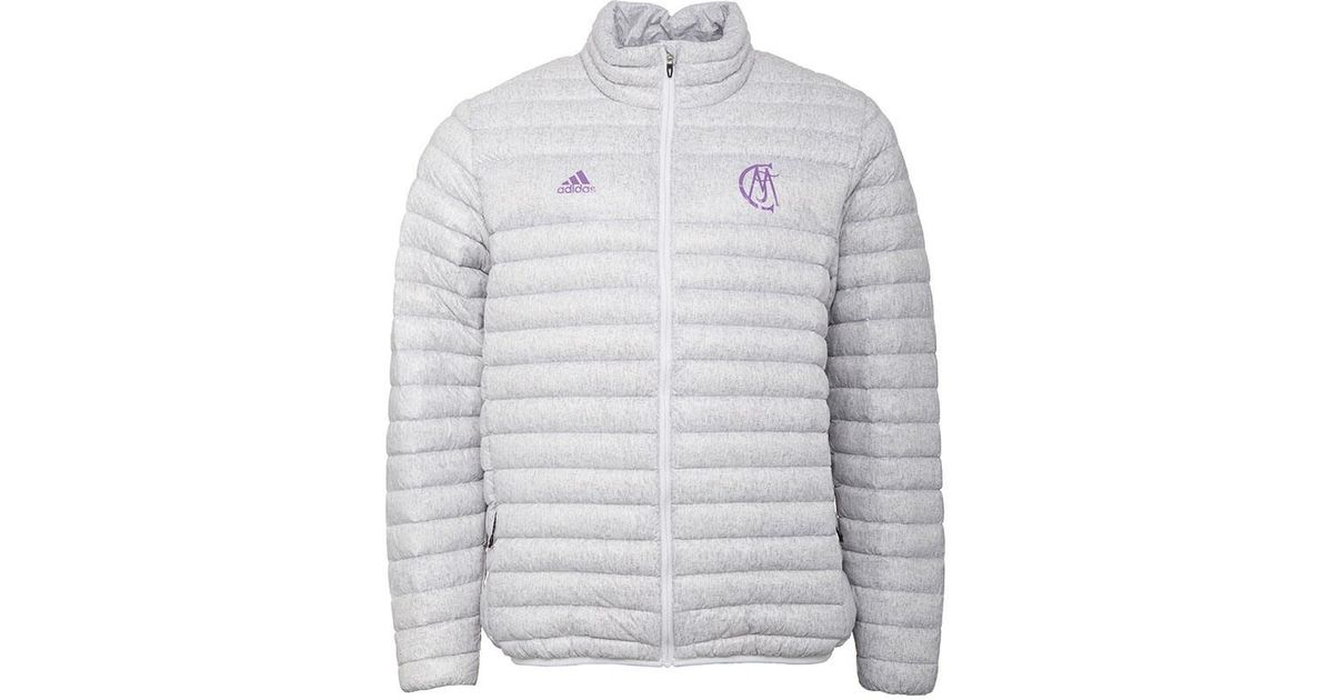 746b61d11d adidas Rmcf Real Madrid Light Down Jacket Crystal White ray Purple in White  for Men - Lyst