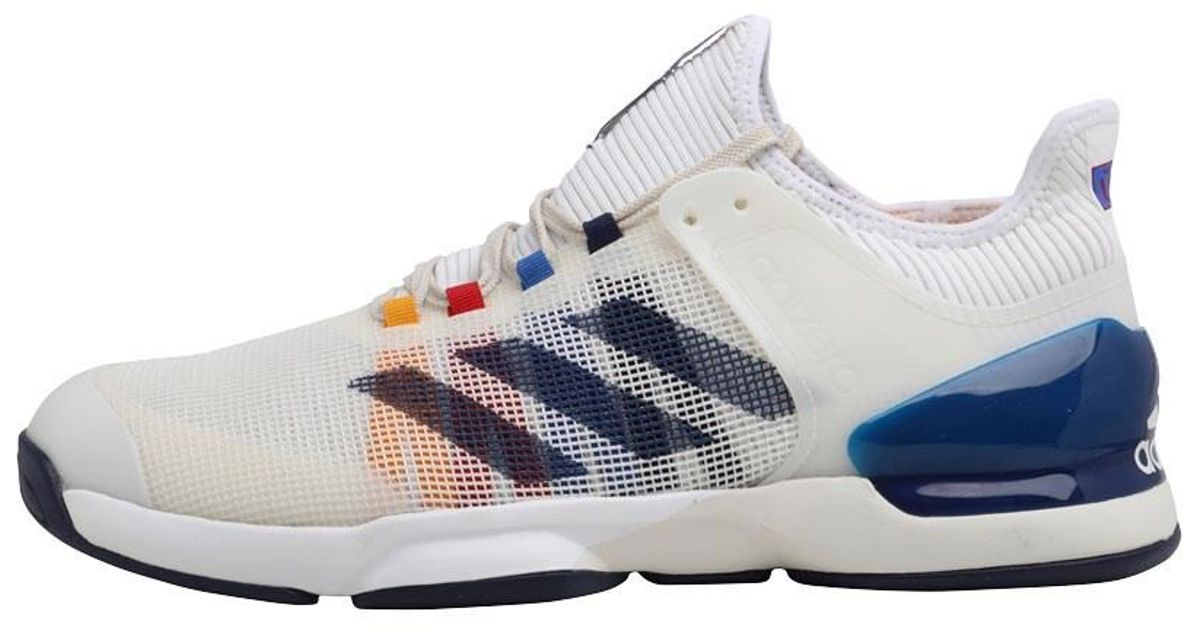 ad21ab440 adidas Adizero Ubersonic 2.0 Pharrell Williams Tennis Shoes Footwear White dark  Blue scarlet in White for Men - Lyst