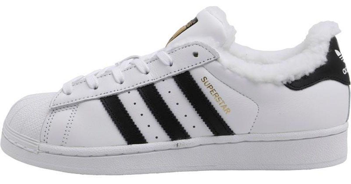 best website 22c61 6745f adidas Originals Superstar Trainers Footwear Whitecore Blackgold Metallic  in White - Lyst
