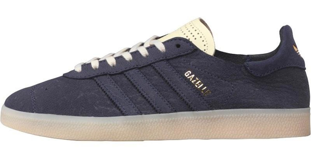 2191ba16055173 adidas Originals Gazelle Crafted Trainers Navy running White gold Metallic  in Blue for Men - Lyst