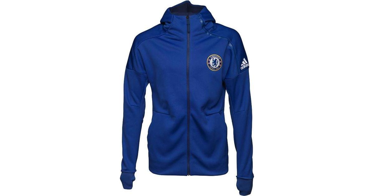 Adidas Cfc Chelsea Anthem Z.n.e Full Zip Hoody Chelsea Blue dark Blue in  Blue for Men - Lyst 98edb51eed
