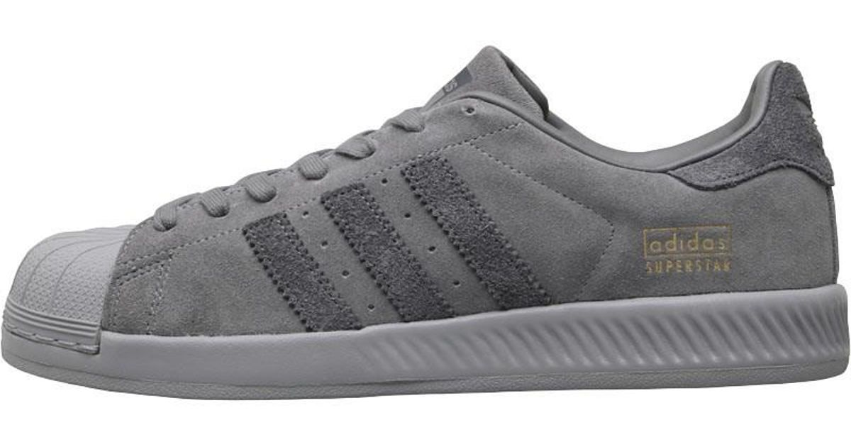 2cdba24887d18 adidas Originals Superstar Bounce Trainers Grey One grey grey Five in Gray  for Men - Lyst