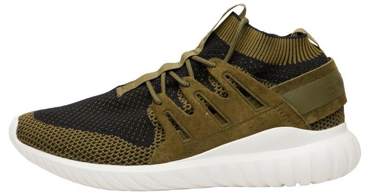 release date 54f96 23ab2 Adidas Originals Tubular Nova Primeknit Trainers Olive Cargo core  Black vintage White for Men - Lyst