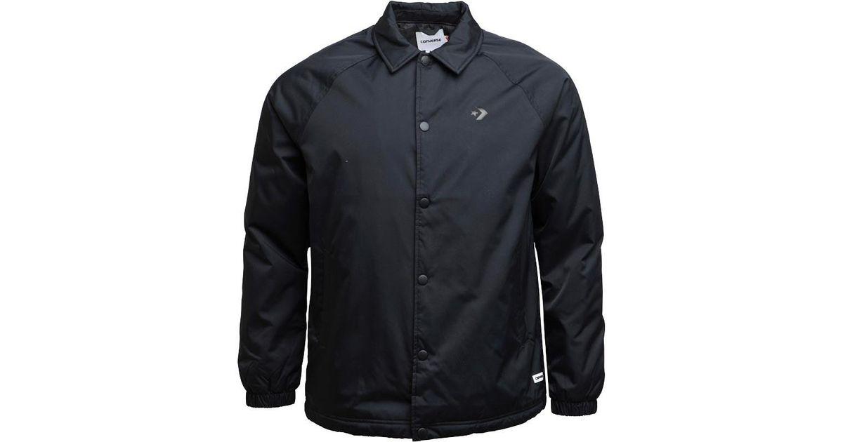 400e234c3b6c Converse Primaloft Coaches Jacket Black in Black for Men - Lyst