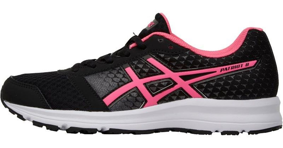 de87a286138d Asics Patriot 8 Neutral Running Shoes Black hot Pink white in Black - Lyst