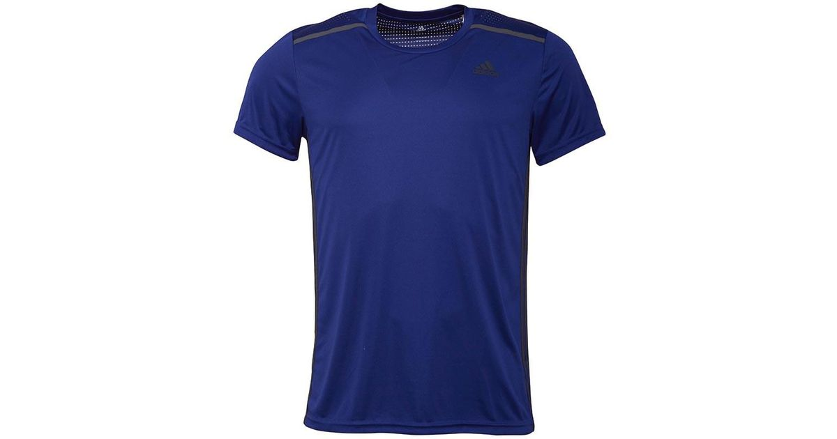 los angeles 66043 f66b9 Adidas Cool365 3 Stripe Climacool Top University Ink in Blue for Men - Lyst