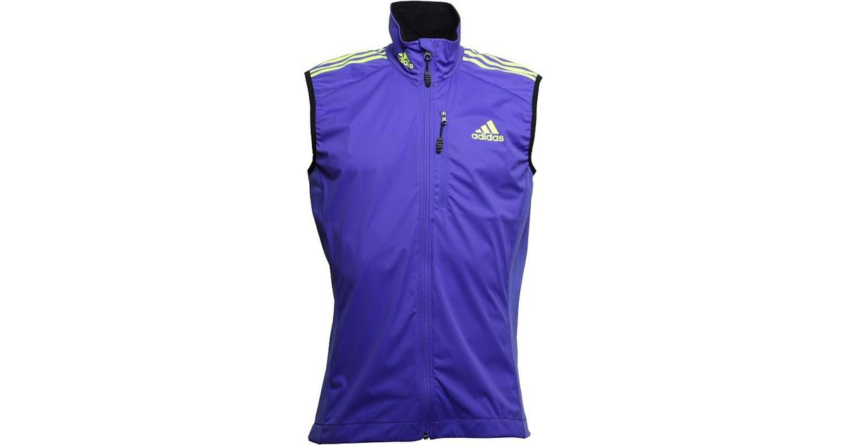 newest bd1c3 ea4d2 adidas Xperior Soft Shell Vest Night Flash solar Yellow pool in Purple for  Men - Lyst